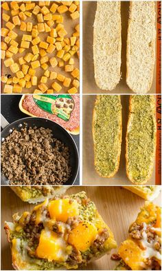 Butternut Squash and Sausage French Bread Pizza