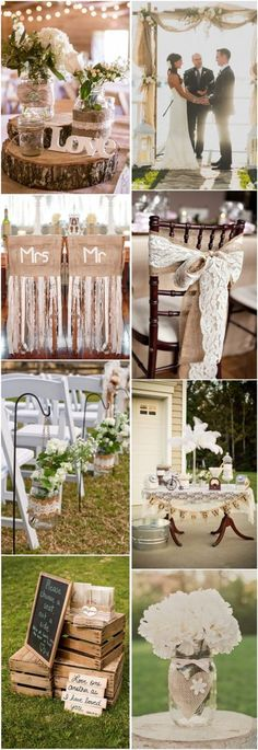 45 Chic Rustic Burlap & Lace Wedding Ideas and Inspiration country rustic wedding ideas- burlap & lace wedding theme ideas. Chic Wedding, Our Wedding, Dream Wedding, Wedding Country, Wedding Blog, Wedding Burlap, Country Engagement, Fall Wedding, Engagement Photos