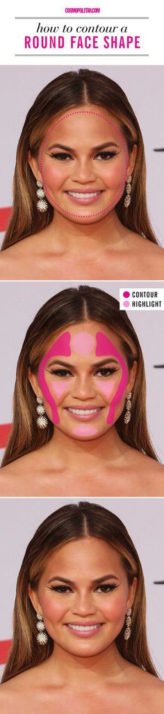 How to contour if you have a round face shape.
