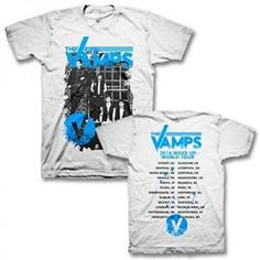 The Vamps Official Wake Up Tour Alley White T-Shirt