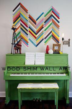 Painted Piano and Wood Shim Wall Art {Tutorial} - East Coast Creative Blog