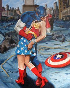 Captain America & Wonder Woman