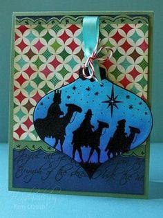 Click to Zoom:  Wisemen Ornament Card 2