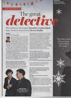 The Great Detective - Who better to interrogate Benedict Cumberbatch than 'Sherlock' mastermind Steven Moffat? | Radio Times, Christmas, 2013