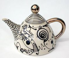 Caligraphy teapot by Mark Dally