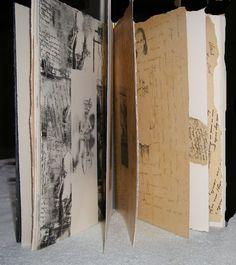 """libro de Artista -""""Amanda""""  grabados y collage-"""