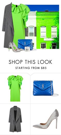 """""""Neon Green"""" by cherieaustin ❤ liked on Polyvore featuring MSGM, Yves Saint Laurent, Miss Selfridge, Gianvito Rossi and MILK MAKEUP"""