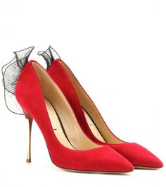 Nicholas Kirkwood SUEDE POINTED PUMPS WITH RUFFLE