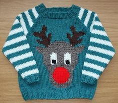 """Ravelry: Rudi pattern by Vikki Bird Does Levi need an """"ugly"""" christmas sweater?? :)"""