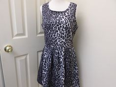 Attention Leopard Print Career Dress Sleeve Less Above The Knee Size M NWT #Attention #WeartoWork