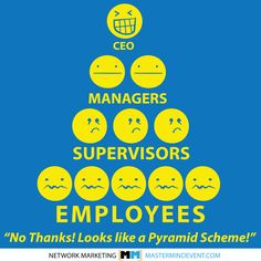 No thanks! Looks like a Pyramid Scheme to me. LOL.  Courtesy of the Network Marketing Mastermind Event.   http://MastermindEvent.com