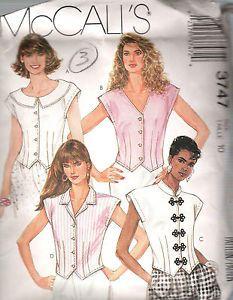 Misses-Blouse-VINTAGE-SEWING-PATTERN-3747-MCCALLS-SIZE-10-B-32-5-H-34-5-UNCUT