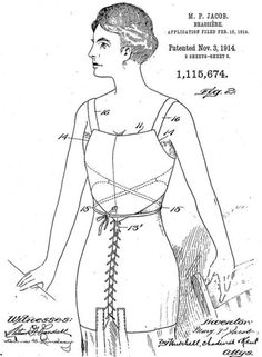 Mary Phelps Jacobs brassiere patent in 1914