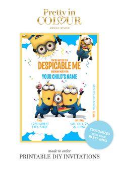 Despicable Me Birthday Invitations Design File #001