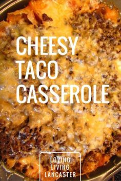 healthy food recipes chiken dinner cooking I love a good and easy dinner recipe. My husband loves all things cheese and taco. This Cheesy Taco Casserole Recipe is the perfect combination of both! Beef Dishes, Food Dishes, Tex Mex, Enchiladas, Easy Dinner Recipes, Easy Meals, Crockpot Meals Easy, Hamburger Crockpot Recipes, Beef Meals