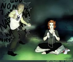 clint and natasha fan art | Fanart: Clint Barton and Natasha Romanoff playing a wii game; Natasha ...