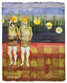 Maurice Christo van Meijel: zonder titel (2005) inkt op papier, 97 x 77 cm. (collectie Kunstcentrum Zaanstad)
