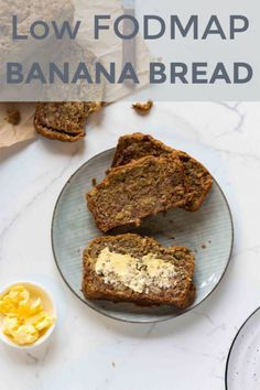 It doesn't get better than soft fluffy low FODMAP banana bread smothered in butter! This low FODMAP baking makes a yummy snack Fodmap Diet, Low Fodmap, Fodmap Foods, Yummy Snacks, Snack Recipes, Free Recipes, Snacks Kids, Muffin Recipes, Paleo Recipes