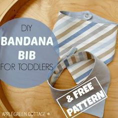 A step-by-step bandana bib tutorial with a free pattern, quite simple and easy to make.