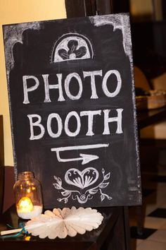 Cute photo booth chalkboard sign