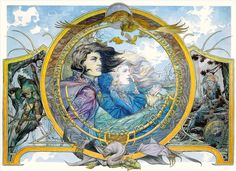 Faramir and Éowyn ~ Michael Kaluta.