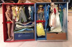 Vintage 1963 Barbie Ken Case Clothes Accessories and Vintage Ken Doll   eBay