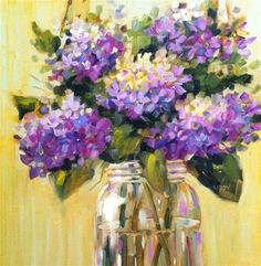 """Daily Paintworks - """"Lavender Blue"""" by Libby Anderson"""