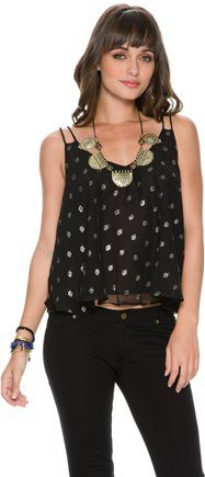 Metallic polka dot tank.  http://www.swell.com/New-Arrivals-Womens/SWELL-COSMOS-POLKA-DOT-TANK?cs=BL