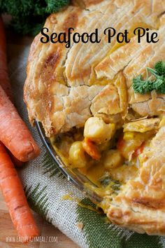 Seafood Pot Pie with Gluten free Crust and Filling from Eazy Peazy Mealz @rachael_yerkes