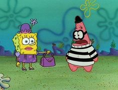 """""""Ohhh look at this purse so big and heavy!"""" """"Hold it right there I'll be taking that!!!"""" """"Help,help why have u come to rescue little ole me??"""" Lol I love spongebob"""