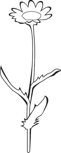 tall flower coloring pages