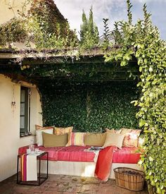 Great idea for a shady spot to spend outside and read in...
