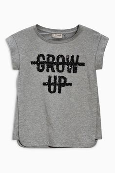 Buy Grow Up Slogan T-Shirt (3-16yrs) from the Next UK online shop