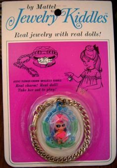Liddle Kiddle Doll Bracelet Jewelry Charm Mattel Mint Toy I had one of these with blond hair. My Childhood Memories, Childhood Toys, Great Memories, 1960s Toys, Retro Toys, 1970s, Real Doll, I Remember When, Vintage Dolls