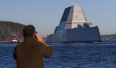 The US Navy's largest destroyer ever heads out to sea   The Verge