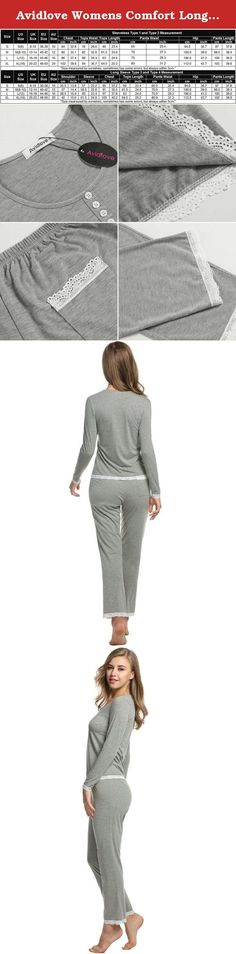 Avidlove Womens Comfort Long Sleeve Sleepwear Cotton Lightweight Pajama Sets. Avidlove Women's Two-Piece Sleepwear Long Sleeve Pajama Set Pj Pants S-XL Please refer to the sizing information in the image to ensure you the utmost satisfaction possible with this product Features: It's just a nice basic set perfect for autumn and winter. The material is not see through and will feels very soft and comfty on your skin. This set it's very comfortable to sleep in, keeps you fresh and…
