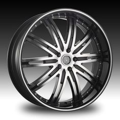Velocity Wheels VW865A - 17 Inch 17x7.0 Black Rims with Machined Face Machined Line