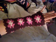 Ravelry: Granny Square Fingerless Gloves pattern by Monique Engh Crochet Mittens, Crochet Gloves, Crochet Patterns Amigurumi, Knit Crochet, Granny Square Pattern Free, Granny Squares, Free Pattern, Granny Square Slippers, Fingerless Mitts
