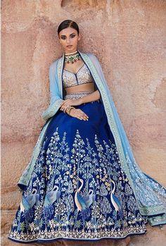 15 Anita Dongre Lehenga Designs With Prices - SetMyWed Designer Bridal Lehenga, Indian Bridal Lehenga, Pakistani Bridal, Lehenga Designs, Indian Wedding Outfits, Indian Outfits, Indian Clothes, Blue Lehenga, Lehenga Choli