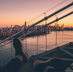 """Humza Deas gained some notoriety in 2014 as a subject in a story on """"outlaw"""" Instagrammers in New York magazine, and he remains one of the more prolific among the urban exploration crowd, shooting from the top of the Williamsburg Bridge at sunrise (see below) and on train tracks in the Bronx."""