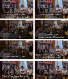 Louis swearing. Oh Louis.