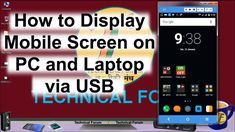 How to Display Mobile Screen on pc and Laptop via USB