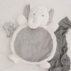 Add a touch of fluffy delight to your little one's nursery with our adorable elephant play mat. Our perfectly personalized elephant in unisex white is a welcome addition to any little one's play time, made from d Baby Nap Mats, Elephants Playing, Baby Elephants, Baby Elephant Nursery, Elephant Baby Clothes, Personalized Baby Gifts, Nursery Inspiration, Nursery Ideas, Baby Time