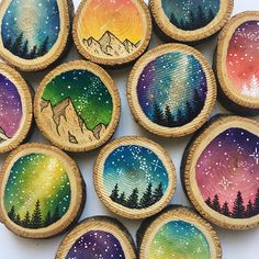 Ornament restock is here!! I have 20 wood slice ornaments that are up for grabs! Click the link in my bio to snag the one you want from my #etsy (they will ship next week when I'm back from vacation)