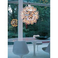 Taraxacum 88 S taklampe fra Flos, designet av Achille Castiglioni. En meget unik og kul lampe med sp...
