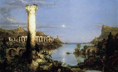The Course of the Empire-Desolation (part 3 of series), Thomas Cole #painting #american