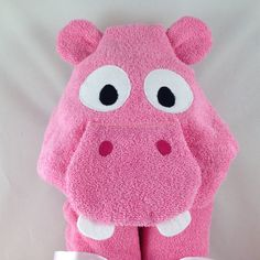 Meet the newest addition to our hooded towel line up! Isn't she the cutest? ❤️