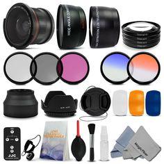 Essential Lens Set & Filter Kit for 58MM Canon Rebel T4i T3i T3 T2i T1i XSi XS