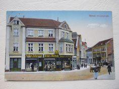 Ak Memel (Klaipėda) = Laden-Geschäfte in der  Börsenstrasse ,1914