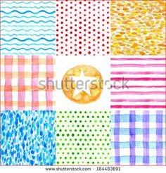 Watercolor abstract geometric seamless patterns.  by Shizayats, via Shutterstock